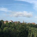 Une partie de la vue de la terrasse