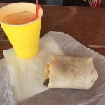 Breakfast Burrito w Adult Lemonade