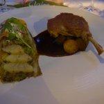 Duck Breast, Vegetable Meli-Melo, balsamic sauce, walnuts
