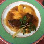 Escalopes de foie gras aux pêches