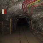corridor under the ground - salt mine in Bochnia