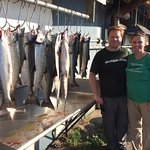 12 fish in an hour and a half including a 20 lb king salmon!
