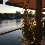 Evening on the river at the hotel restaurant