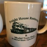 You can buy this mug. They must have sold model trains here once.