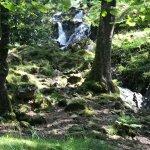 At bottom of waterfall