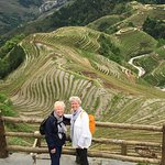 At the start of our hike on the rice terraces