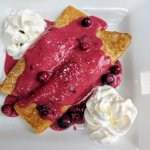 Warm Berry Crepes