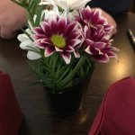 fresh flowers on our table