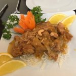 duck with orange sauce and cashews