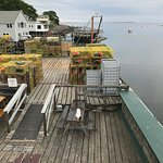 View of lobster traps