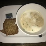 Amazing, frothy, cream of mushroom soup