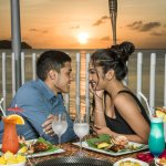 Panoramic ocean views with Guam's iconic sunsets make for a romantic barbecue dinner.