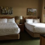 The queen-sized beds were very comfortable and the room was very spacious.