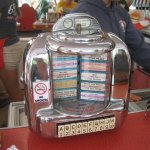 old time counter juke box...Works....