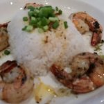 Shrimp and rice.