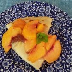Delicious peach crepes with locally sourced peaches
