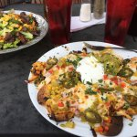 Steak Salad & Chicken Nachos