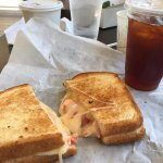 Too much cheese overwhelms Lobster Cheese Sandwich