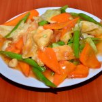 Mixed Vegetables with garlic Sauce