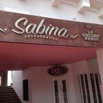 Sabina on the opposite corner