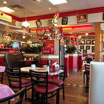 Kitschy interior of Troy's Diner