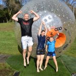 The 'Wild Guys' had a 'ball' HA!!! Cliff, Sandi and Samuel Guy - Australia