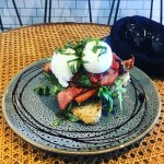 Delicious poached eggs and all day breakfast.