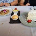 Crispy Roti, Mango Ice Cream & Mousse, Fresh Coconut Cake