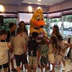 Having fun with the kids!