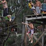 Matthew jumped off doing a 360 degree turn.... lol
