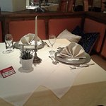 our reserved table during our stay.