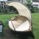 Backyard boat chair.