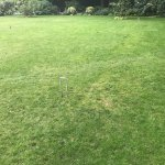 Name another central London hotel that has a croquet lawn in the back?
