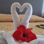 Accoglienza in camera honeymoon