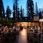 Outdoor dining on the Lanai City Bar & Grille lanai.