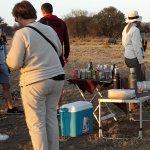 Sundowners with the Rhinos
