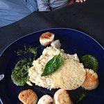 risotto et saint jacques au basilic, délicieux