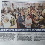 24 readers at my book launch. And giving our Mayor £90, raised towards repairing the war memoria