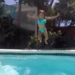 Jumpin in the pool!