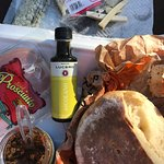 Olive oil (Lucerno) and Olive Tapenade (Olive Pit)