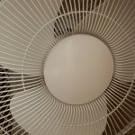 Fan in room.