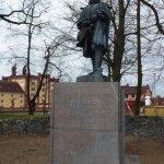 Памятник создателю прудов Тржебони - Якобу Крчину