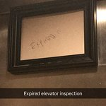 Elevator without an inspection certificate