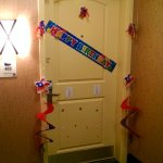 Our Front Door And Custom Birthday Decoration