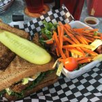 Summer Sandwich with tossed salad