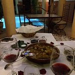 Typical Moroccan dinner at the Riad