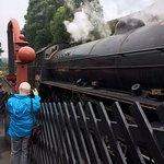Steam train at Goathland Station