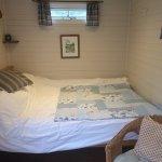 Kind size bed in Shepherd's Hut