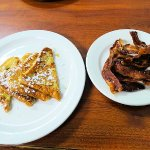 french toast and well done bacon (just like I asked for)
