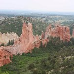 A view on a hike on Glen Eyrie's grounds